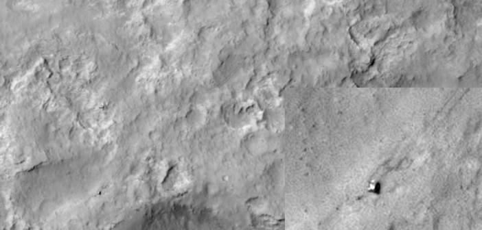 Łazik Curiosity na powierzchni Marsa / Credits: NASA/JPL/University of Arizona