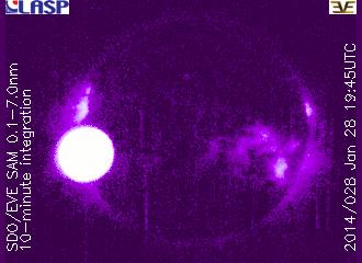 Rozbłysk klasy M4.9 z 28 stycznia 2014 / Credits - NASA, SDO