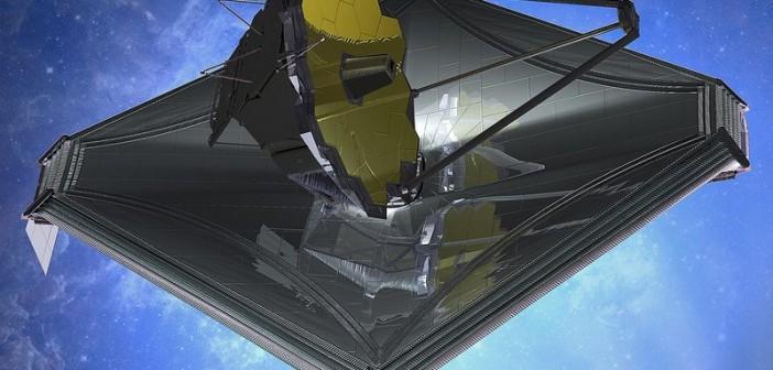 Wizja artystyczna teleskopu JWST / Credits: Northrop Grumman