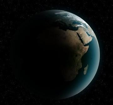 2014 AA weszła w atmosferę naszej planety po zacienionej stronie, być może nad wschodnią Afryką / Credits - K. Kanawka, kosmonauta.net