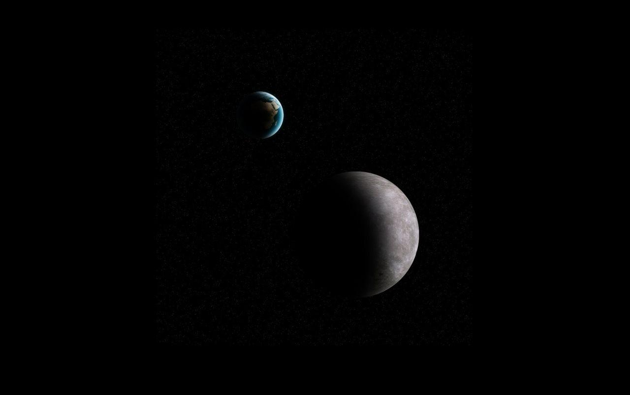 Przestrzeń pomiędzy Ziemią a Księżycem często naruszają małe planetoidy / Credits - K. Kanawka, kosmonauta.net