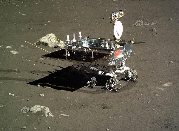 Łazik Yutu na Księżycu / Credits - CNSA