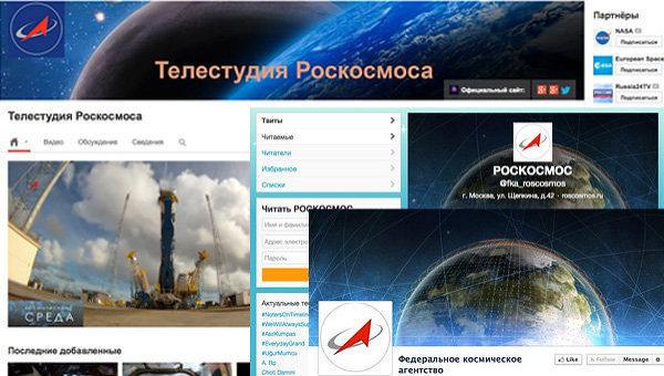 Aktywność Roskosmosu w Internecie / Credits: RIA Nowosti
