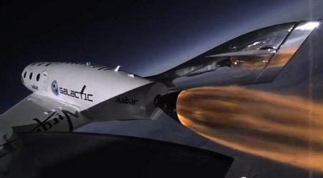 Ujęcie z trzeciego lotu rakietowego SS2 / Credits - Virgin Galactic