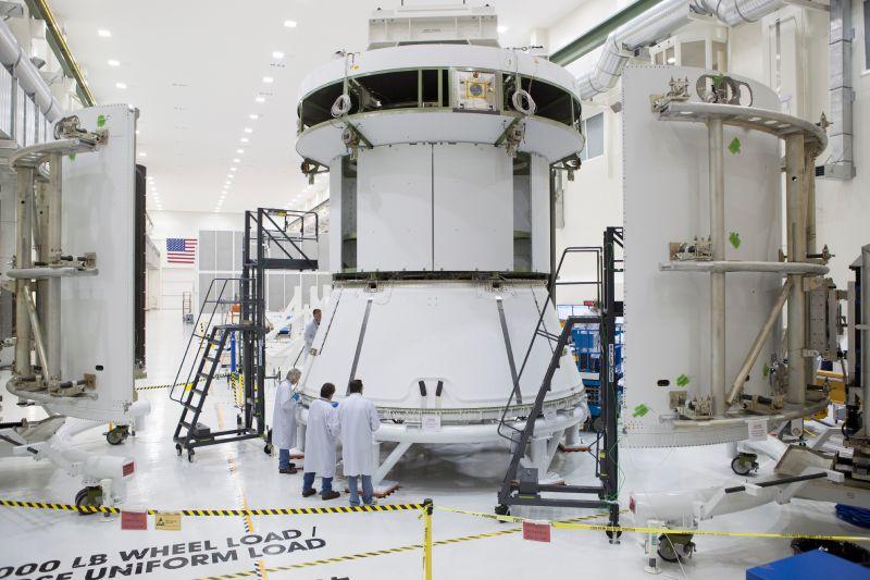 Moduł serwisowy pierwszego Oriona / Credits: NASA