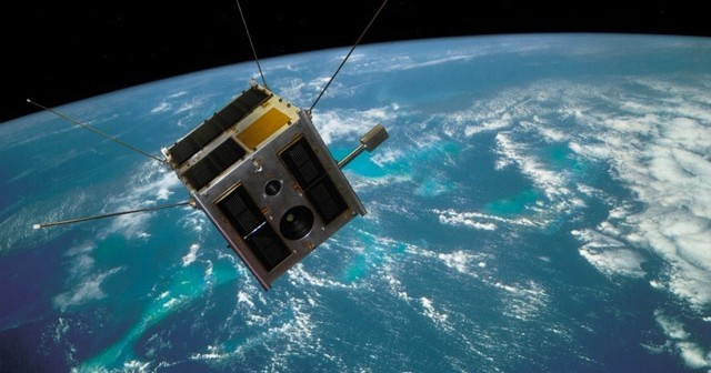 Heweliusz satellite on orbit - artist impression / Credits: CAMK, CBK /