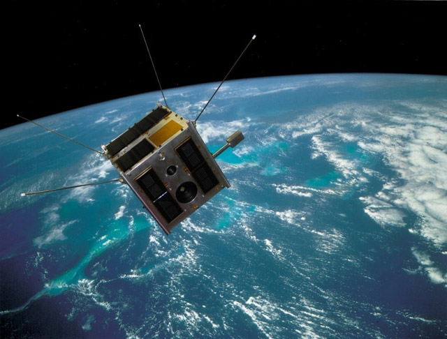 Heweliusz satellite on orbit - artist impression / Credits: CAMK, CBK /