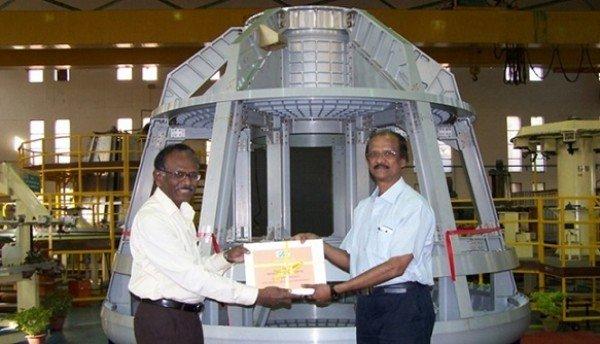 Szkielet makiety indyjskiej kapsuły załogowej / Credits - ISRO