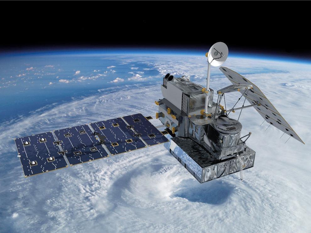 Wizja artystyczna GPM Core Observatory na orbicie / Credits: NASA