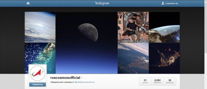 Profil Roskosmosu w serwisie Instagram / Credits: Roskosmos, Instagram