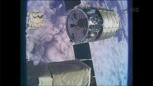 Cygnus opuszcza Międzynarodową Stację Kosmiczną / Credits - NASA TV