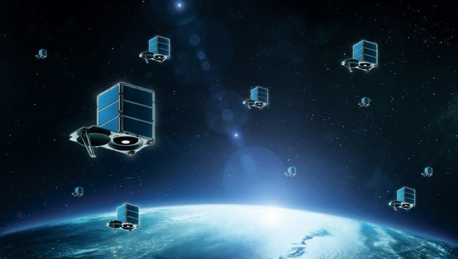Konstelacja SkySatów firmy Skybox - wizualizacja / Credits: SkyBox