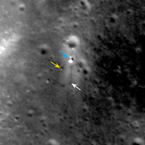 Pozycja Chang'e 3 i Yutu - stan na 17.02.2014 / Credits - NASA/GSFC/Arizona State University