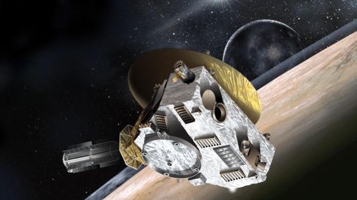 Artystyczna wizja sondy New Horizons przelatującej obok Plutona / Credits - JPL, NASA