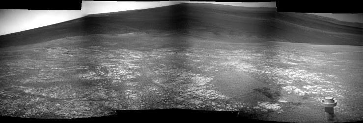 Mozaika zdjęć z NAVCAM z sol 3579 / Credits: NASA, Kosmonauta.net