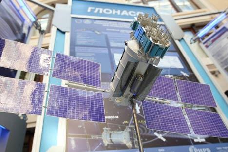 Makieta satelity Glonass-M / Credits: RKA Novosti