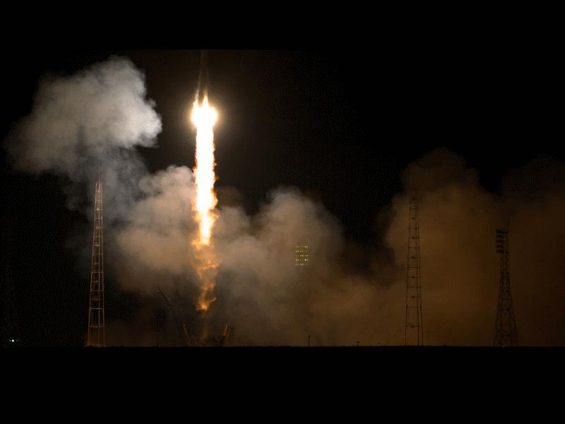 Start Sojuza TMA-12M na rakiecie Sojuz-FG, 25 marca 2014 / Credits - NASA