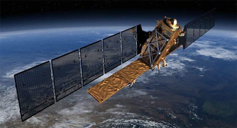 Sentinel-1A - wizualizacja / Credits - ESA