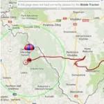 Trasa lotu balonu SEBA-8