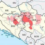 Mapa zasięgu powodzi na Bałkanach, stan na 16 maja 2014 roku / Credits: ArnoldPlaton, License: CC-BY-SA 3.0