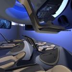 Koncepcja wnętrza komercyjnej wersji kapsuły CST-100 firmy Boeing / Credits: Boeing