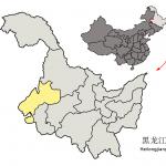 Położenie prefektury Qiqihar prowincji Heilongjiang na mapie Chin / Credits: Croquant, Licence: CC-BY-3.0