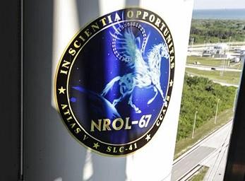 Logo misji NROL-67 / Credits: NRO