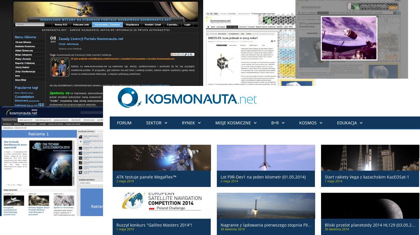 Our website since 2009 / Credits - Kosmonauta.net