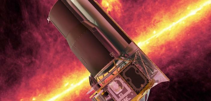 Kosmiczny Teleskop Spitzera w przestrzeni kosmicznej - wizualizacja / Credits: NASA