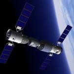 Moduł Tiangong-1 i Shenzhou-10 / Grafika wykonana przez Junior Miranda