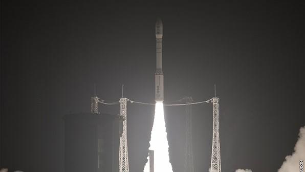 Start rakiety Vega VV-03 z satelitą KazEOSat-1 / Credits: Arianespace