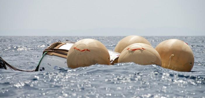 Zwodowany prototyp statku IXV. Wybrzeże Toskanii, 23 czerwca 2014 / Credits: NERI - Livorno (I)