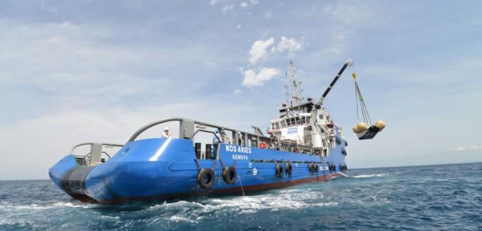 Wodowanie prototypu statku IXV. Wybrzeże Toskanii, 23 czerwca 2014 / Credits: NERI - Livorno (I)