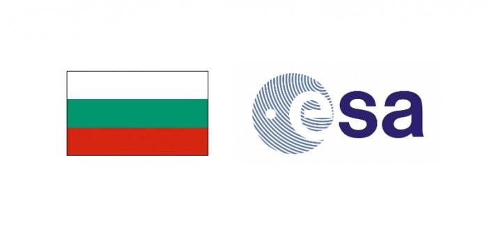 Flaga Bułgarii i logo ESA