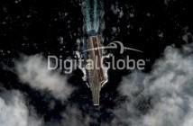 Chiński lotniskowiec sfotografowany przez satelitę DigitalGlobe / Credits: DigitalGlobe
