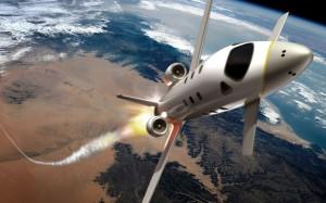 Wizualizacja wznoszenia się rakietoplanu SpacePlane / Credits: Airbus Space & Defence