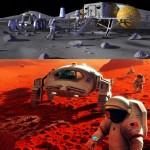 Wizje eksploracji NASA: Mars i Księżyc / Credits - NASA