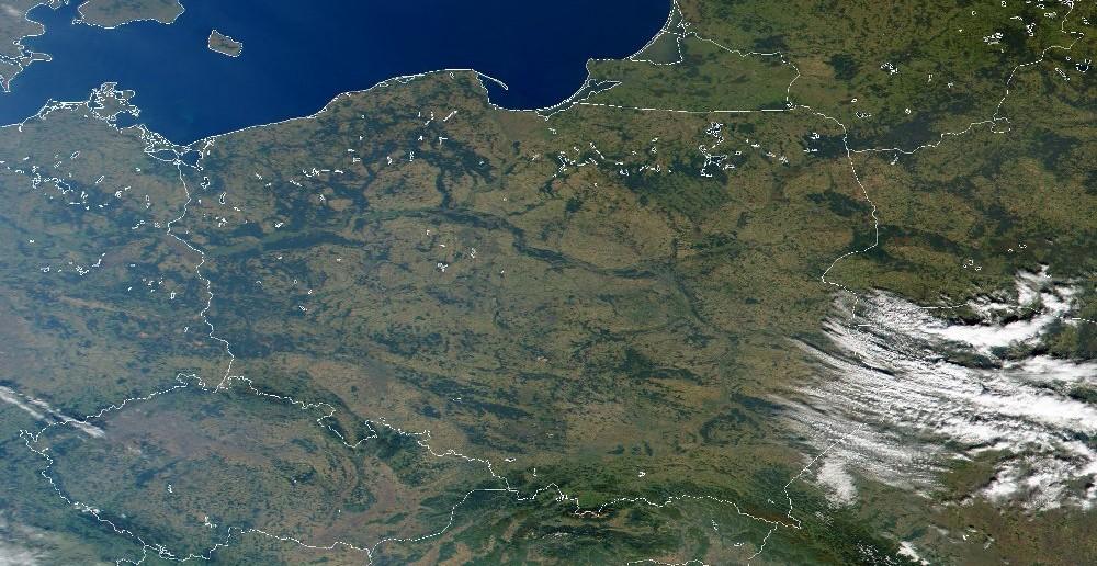 Polska widziana z przestrzeni kosmicznej / Credit: NASA