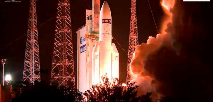 Start Ariane 5 z ATV-5 na pokładzie / Credits - ESA, Arianespace