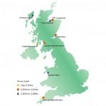Lokalizacja proponowanych komercyjnych kosmodromów w Wlk. Brytanii / Credits - brytyjska CAA