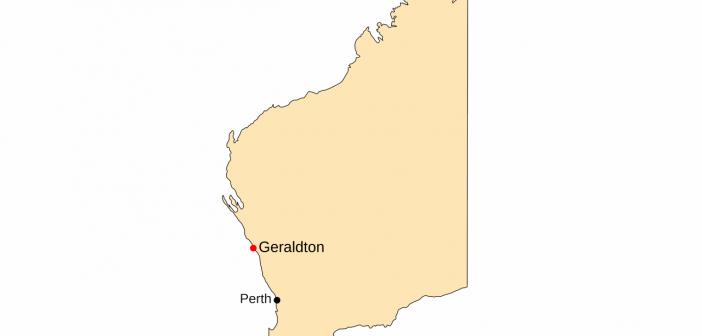 Geraldton na mapie Zachodniej Australii / Credits: Mark, License: CC-BY-SA 3.0