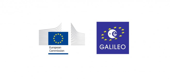 Logo Komisji Europejskiej i systemu Galileo / Credits: Komisja Europejska