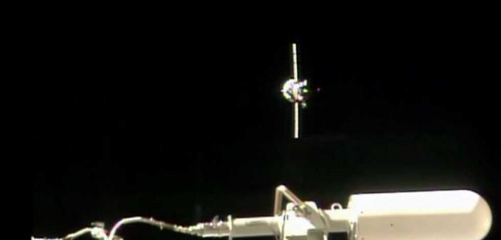 Progress M-24M zbliżający się do ISS, 24 lipca 2014 / Credit: NASA TV