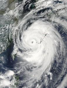 Tajfun Neoguri z satelity Aqua - stan na ranek 7 lipca 2014 / Credits - NASA