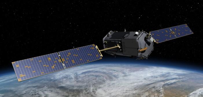 Wizualizacja satelity OCO-2 na orbicie okołoziemskiej / Credits: NASA/JPL-Caltech