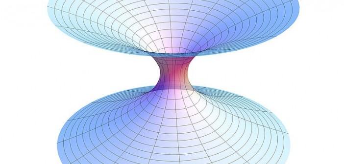Grafika przedstawiająca tunel czasoprzestrzenny / Credits - AllenMcC., wikipedia