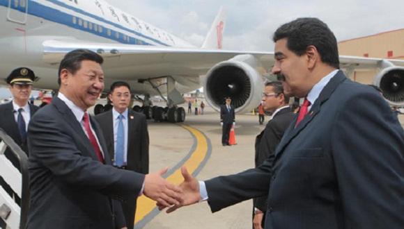 Prezydent Chin Xi Jinping witany przez prezydenta Wenezueli Nicolasa Maduro / Credit: Cuba Debate
