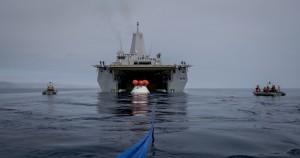 URT-2 - drugi test odzyskiwania kapsuły Orion / Credit: US Navy