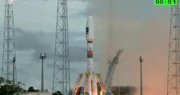Moment startu rakiety Sojuz ST-B / Credits - Arianespace