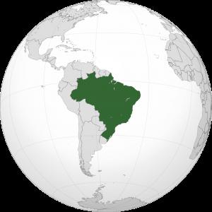 Położenie Brazylii na globie / Credit: Addicted04, License: CC-BY-SA 3.0